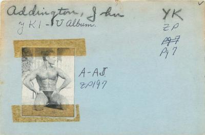 Master List Model Index Card for John Addington